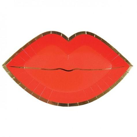 Piatti di San Valentino a forma di labbra