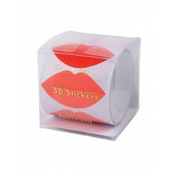 Rotolo di stickers adesivi a forma di labbra