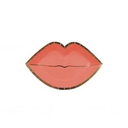 Piattini di San Valentino a forma di labbra rosa