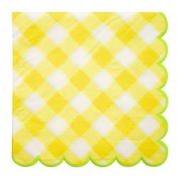 Tovaglioli a quadretti gialli