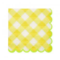 Tovagliolini a quadretti gialli