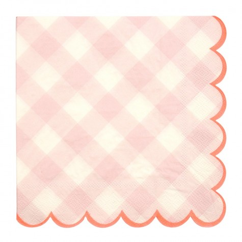 Tovaglioli di carta a quadretti rosa