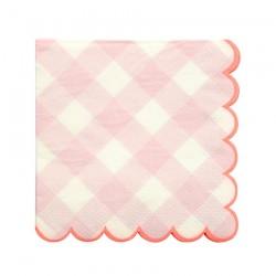 Tovagliolini di carta a quadretti rosa