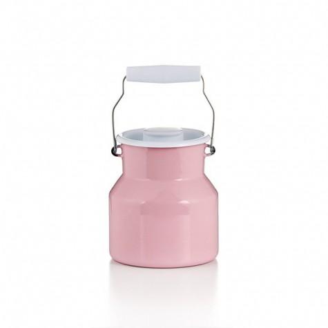 Contenitore per il latte con coperchio - rosa