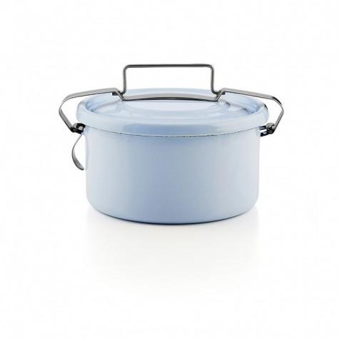 Contenitore azzurro porta cibo con gancio ermetico