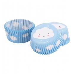 Pirottini cupcakes con fantasia nuvolette