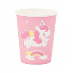 Bicchieri di carta fantasia unicorno