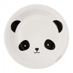 Piatti di carta fantasia panda