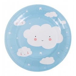 Piatti di carta fantasia nuvoletta
