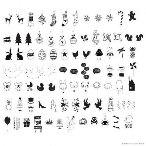 Simboli celebrativi per Lightbox