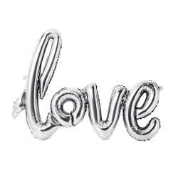 Palloncino argentato Love
