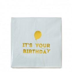 Tovagliolini azzurri Happy Birthday