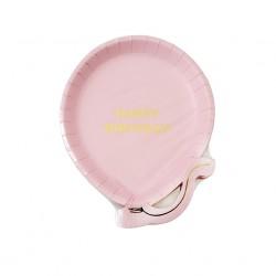 Piattini di carta a forma di palloncino rosa