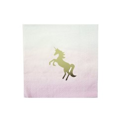 Tovaglioli pastello con fantasia Unicorno