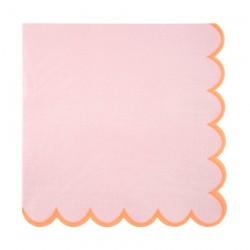 Tovaglioli di carta rosa con bordo smerlato