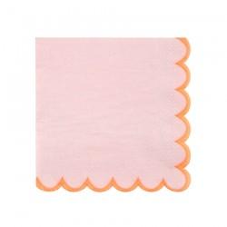 Tovagliolini di carta rosa con bordo smerlato