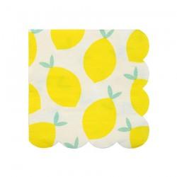 Tovagliolini con fantasia limoni