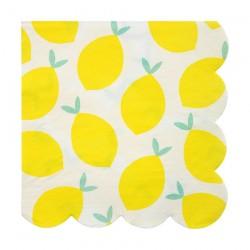 Tovaglioli di carta con fantasia limoni