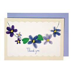Biglietto di ringraziamento con violette