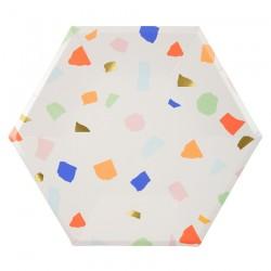 Piatti di carta colorati
