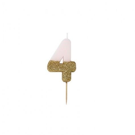 Candelina di compleanno glitterata - 4
