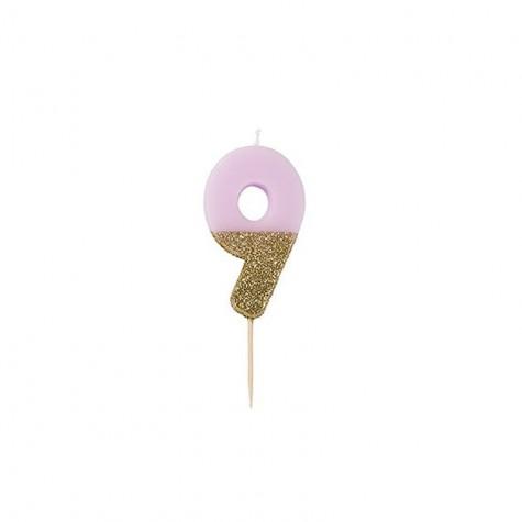 Candelina di compleanno glitterata - 9