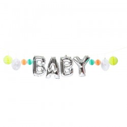 "Ghirlanda con scritta ""baby"""