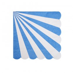 Tovagliolini di carta a righe bianche-blu