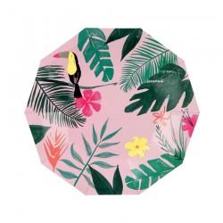Piattini di carta tema tropical