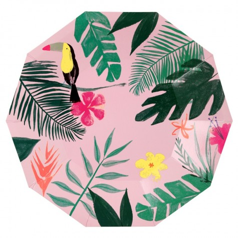 Piatti di carta tema tropical