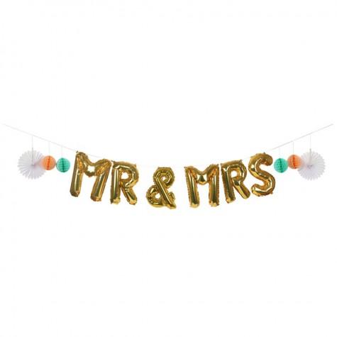 Addobbo con palloncini Mr&Mrs