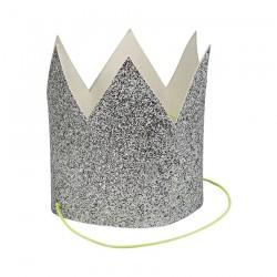 Coroncine argento glitterate