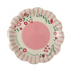 Piattini di carta con fantasia floreale