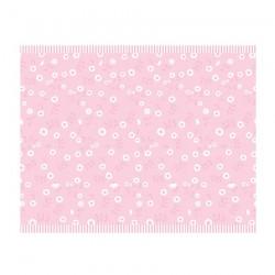 Tovaglia rosa con motivo floreale