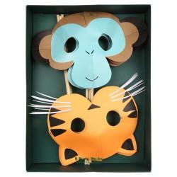 Mascherine scimmietta e tigre
