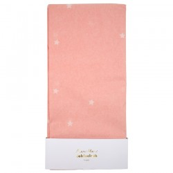 Tovaglia rosa con stelline