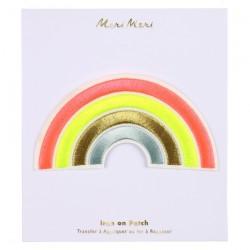 Toppa ricamata a forma di arcobaleno