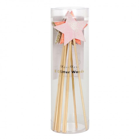 Bacchette magiche con stella glitter