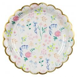 Piatti di carta con stampa floreale