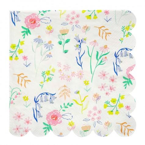 Tovaglioli di carta con fantasia fiori di campo