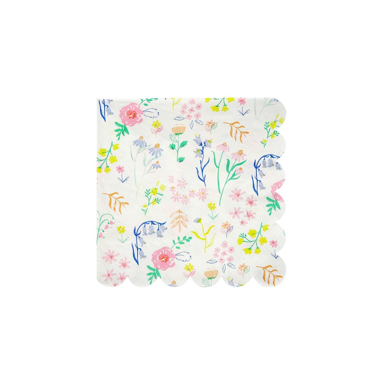 Tovaglioli di carta con fantasia fiori di campo - Tovaglioli di carta decorati ...