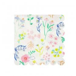 Tovagliolini di carta con fantasia fiori di campo