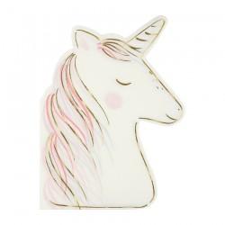 Tovaglioli di carta a forma di unicorno