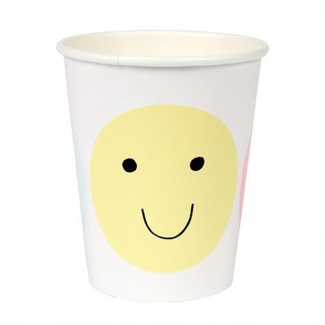 Bicchieri di carta emoji