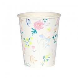 Bicchieri di carta a fantasia floreale