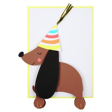 Biglietto buon compleanno cagnolino
