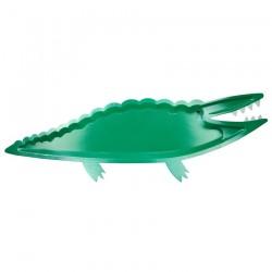 Piatti di carta alligatore