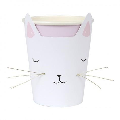 Bicchieri di carta gattino