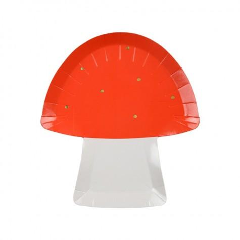 Piatti di carta a forma di fungo