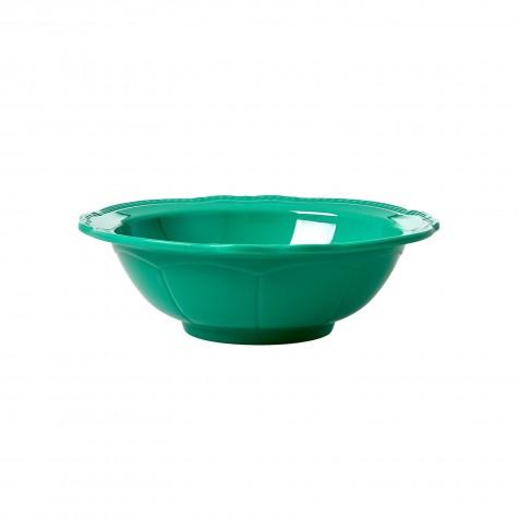 Melamine Bowl in New Look - Dark Green